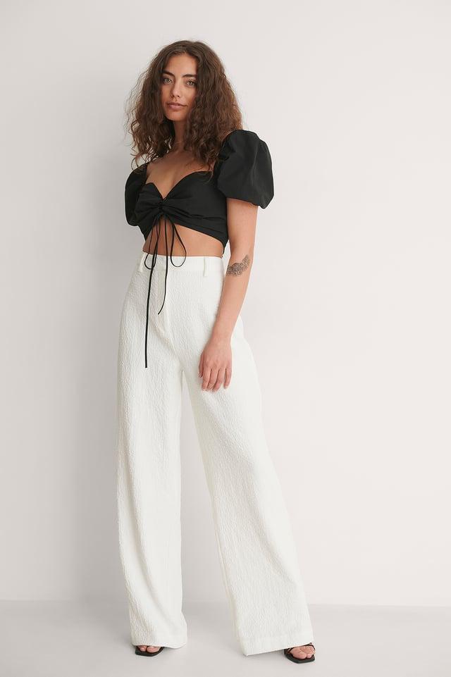 Tie Detail Crop Top Outfit