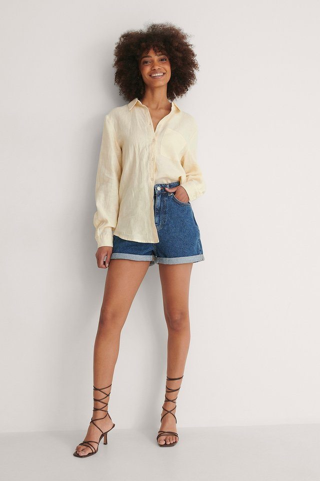 Fold Up Mom Shorts Outfit