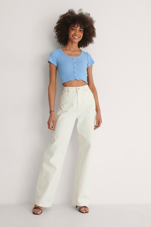 Button Top Outfit