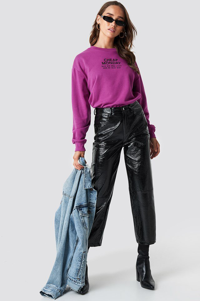 Purple Patent Leather Outfit