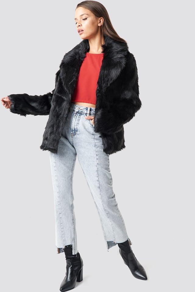 Short Faux Fur Jacket Outfit