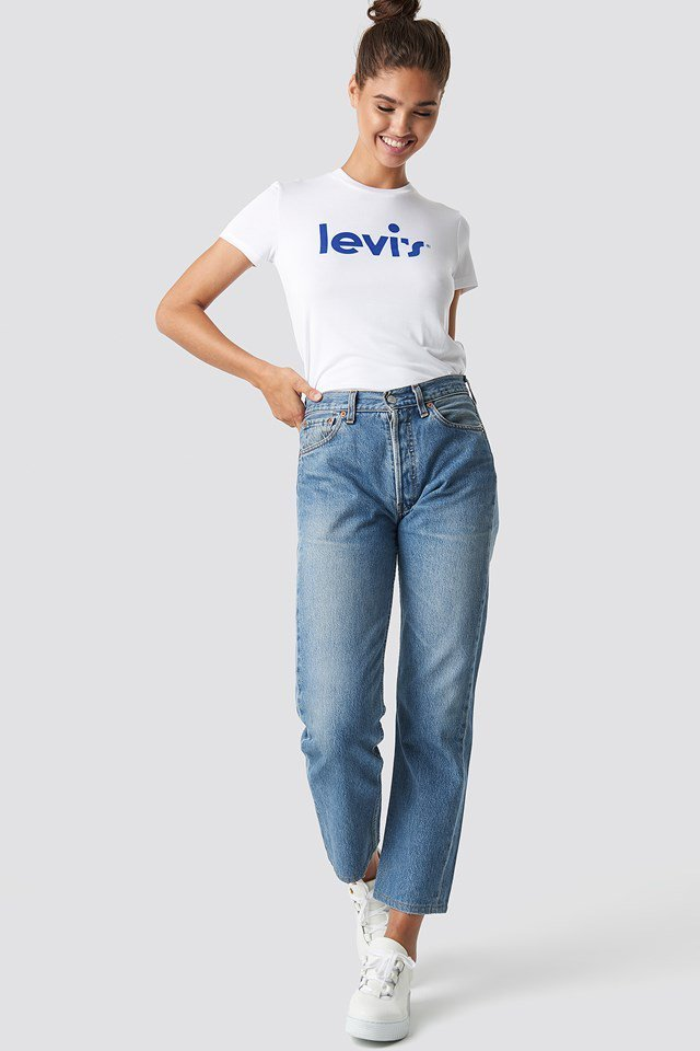 Casual Levi's White and Denim Outfit