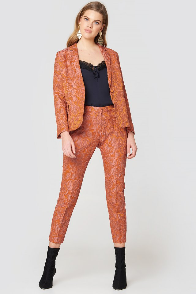 Textured Suit Outfit