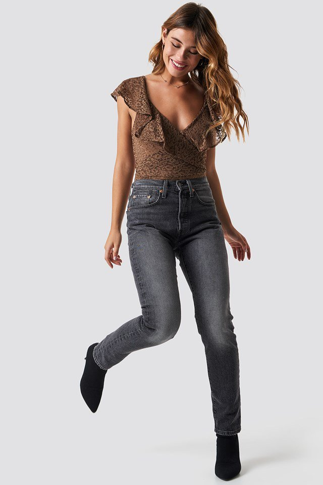 Brown Lace Bodysuit Outfit