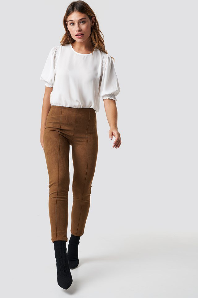 Brown Suede Pants Outfit