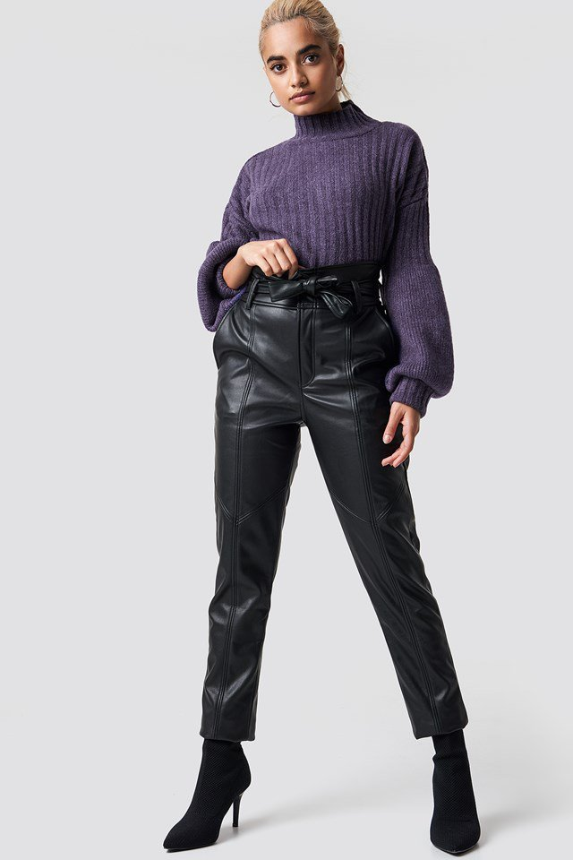 Urban Purple Knit Outfit