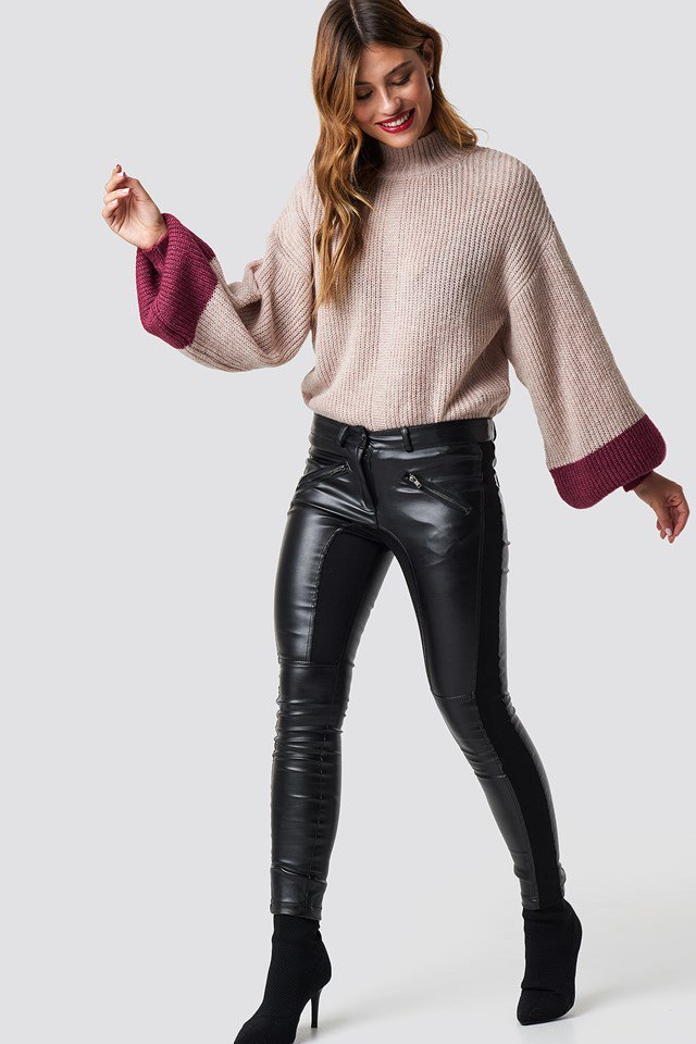 Balloon Sleeve Sweater Outfit