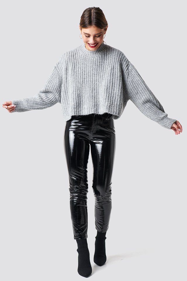 Cozy Knit and Party Trousers Outfit