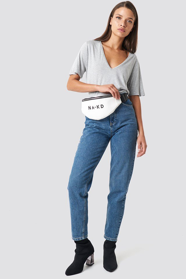 Basic T-shirt with Denim Jeans Outfit.