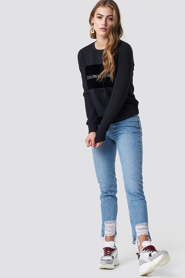 Boxed Calvin Klein Sweater Outfit
