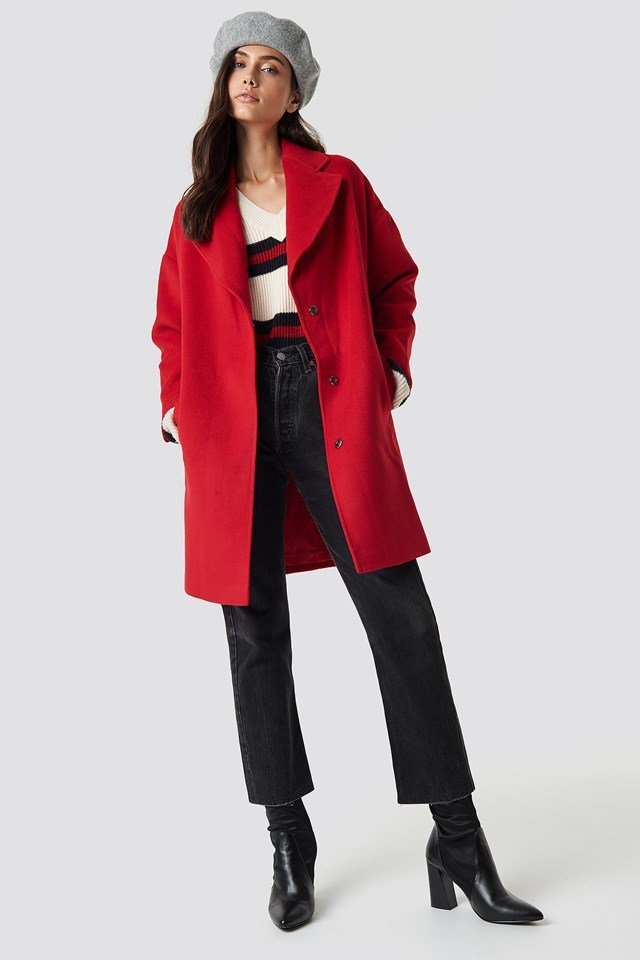 Long Coat and Beret Hat Outfit