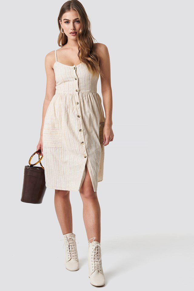 Allover Beige Dress Outfit