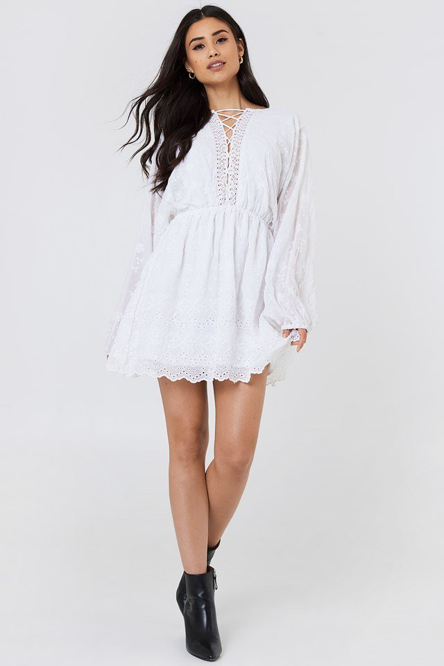 Lace Up Lace Dress