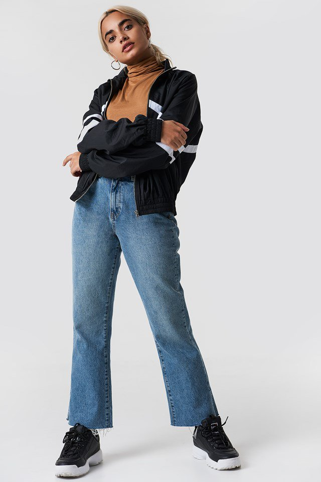 Black Track Suit X Denim Outfit