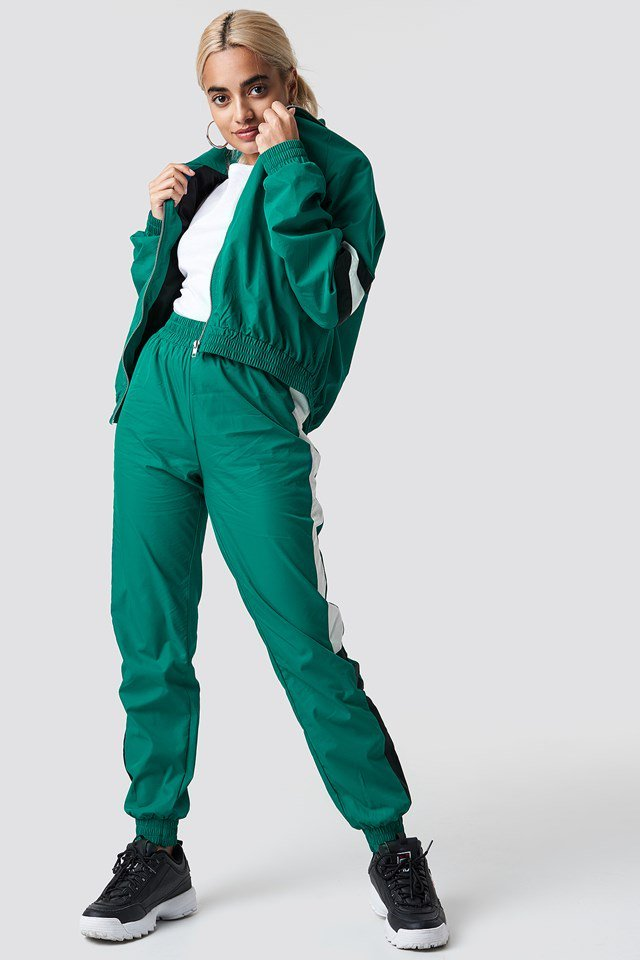 Green Tracksuit Outfit