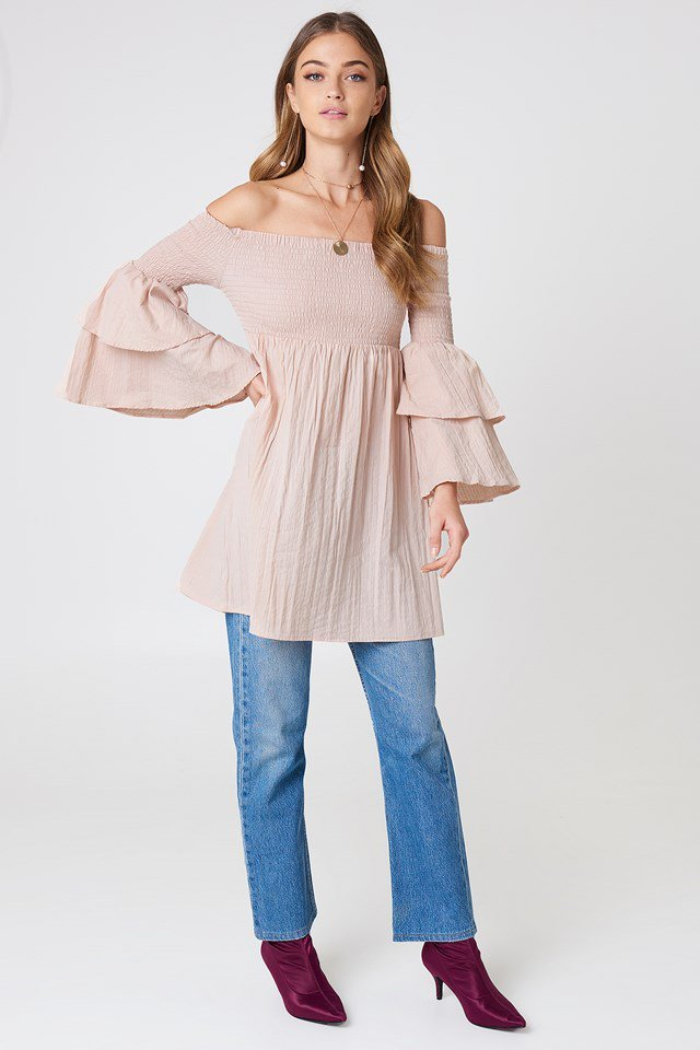 Accessorized  Oversized Tunic Outfit