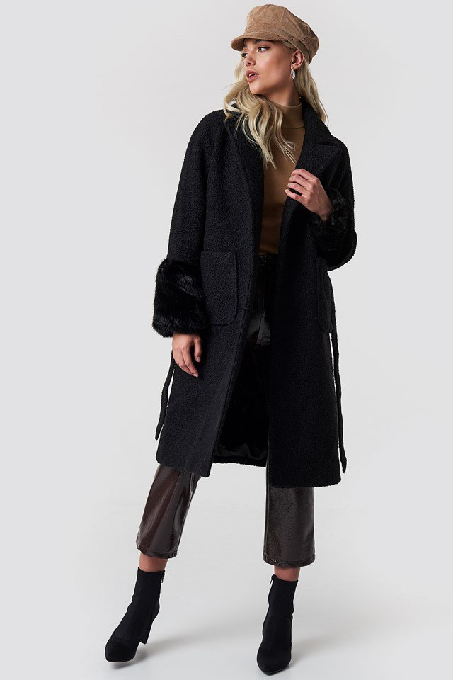 Fur Sleeved Coat Outfit