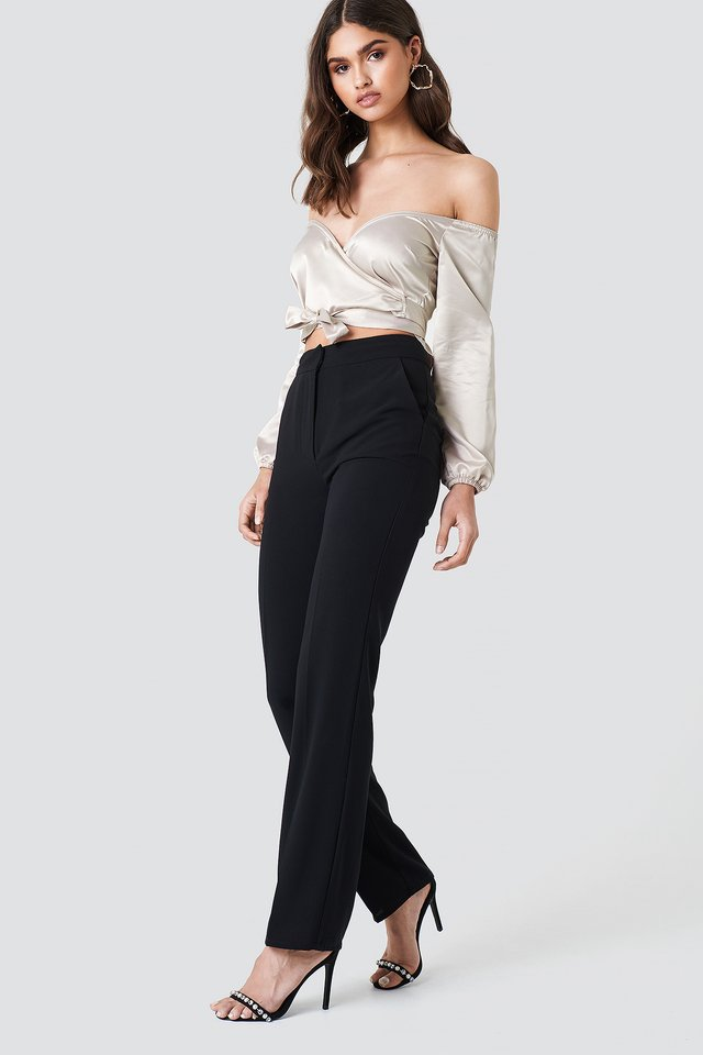 Off Shoulder with Tailored Trousers