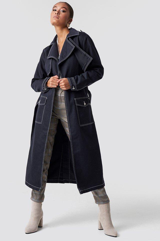 Oversized Denim Coat