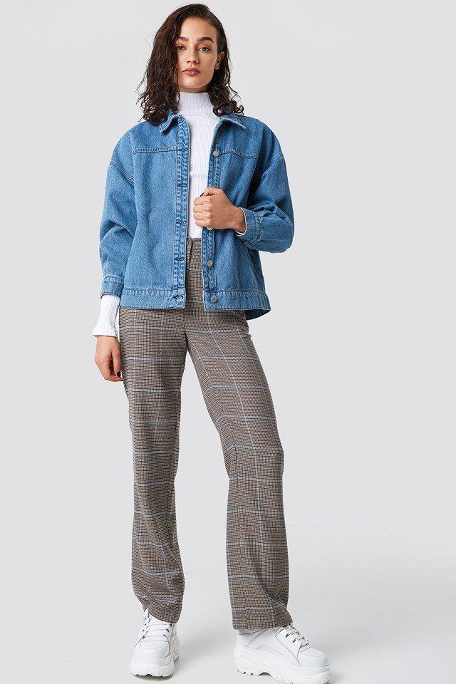 Stylish denim jacket outfit