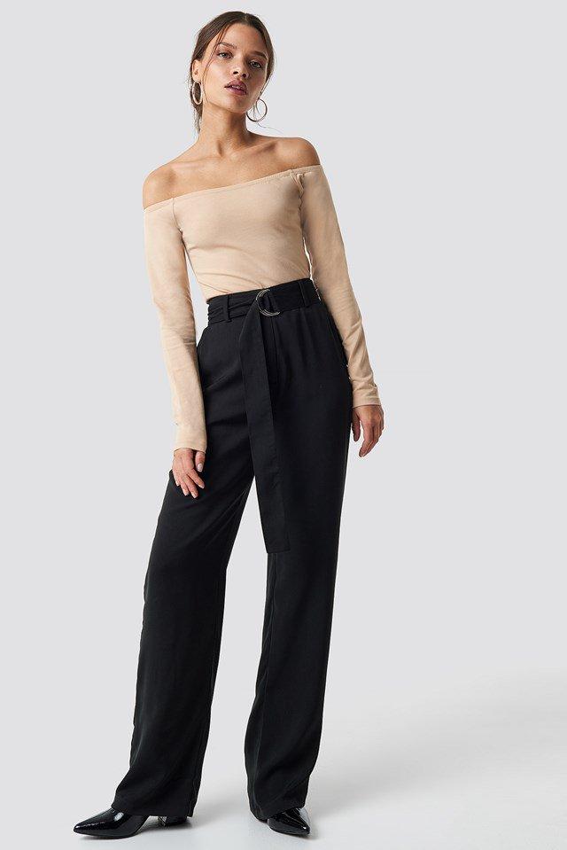 Basic Off Shoulder Top Outfit