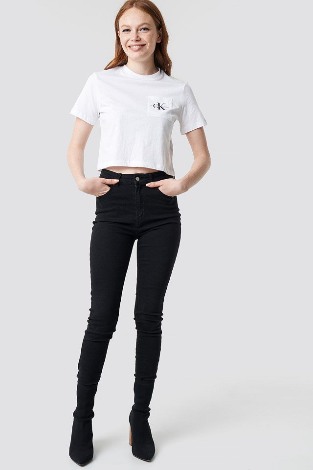 Monogram Crop Pocket Tee Outfit