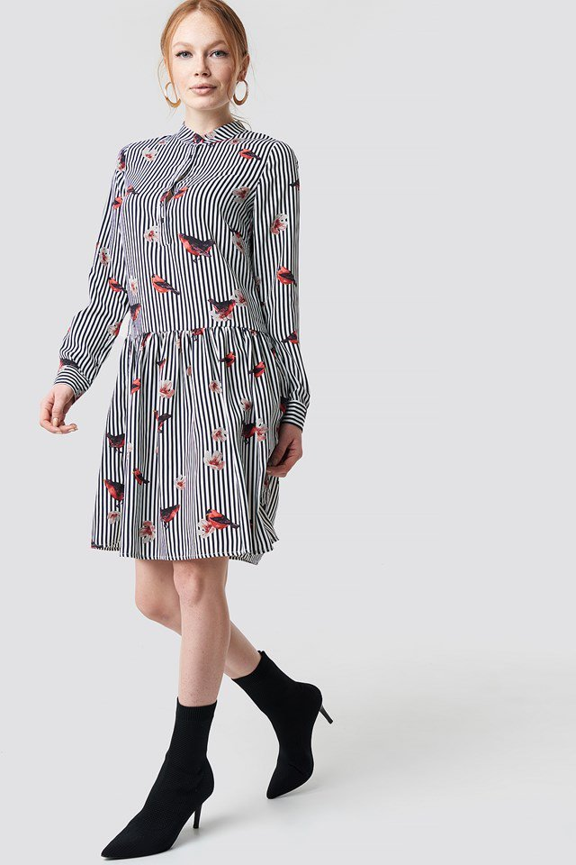 Striped Bird Outfit