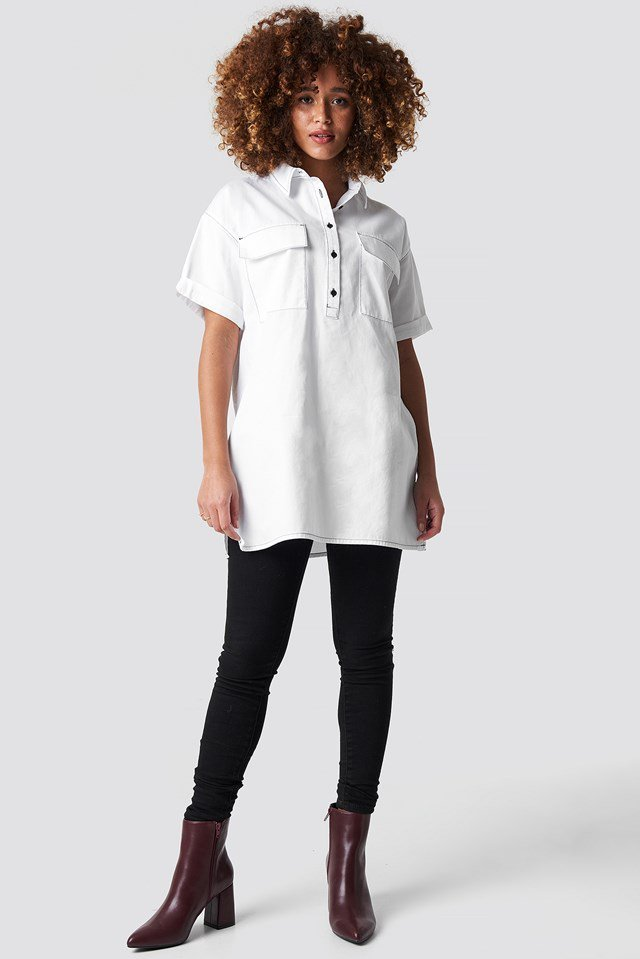White Oversized Shirt.
