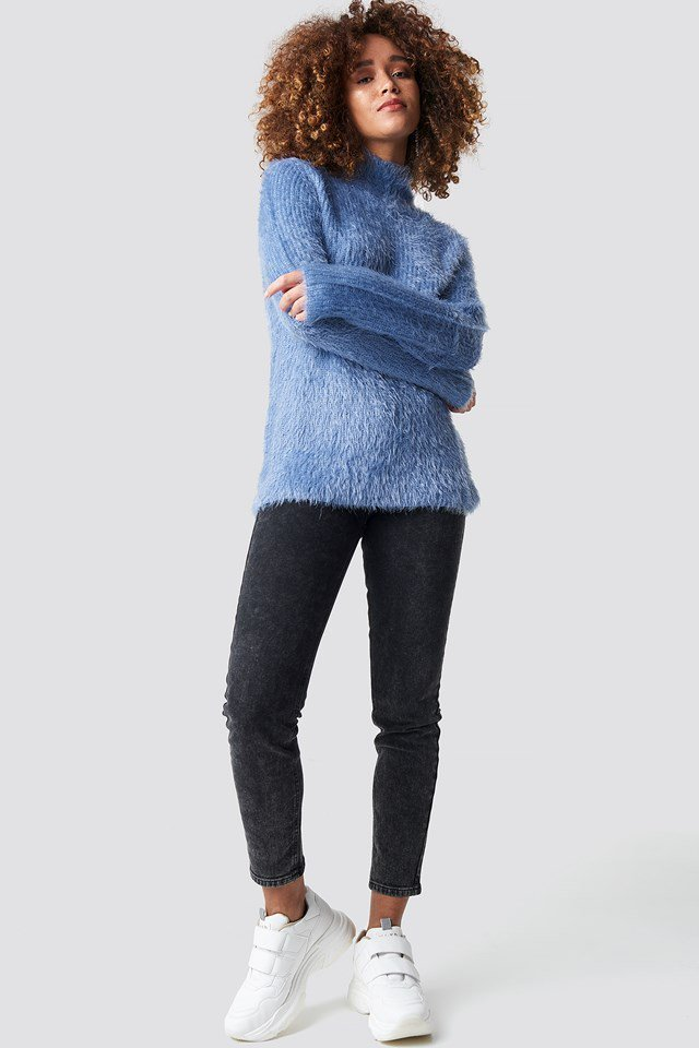 Blue Knit Outfit
