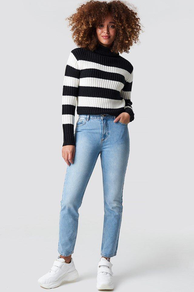Black Stripe Knit.