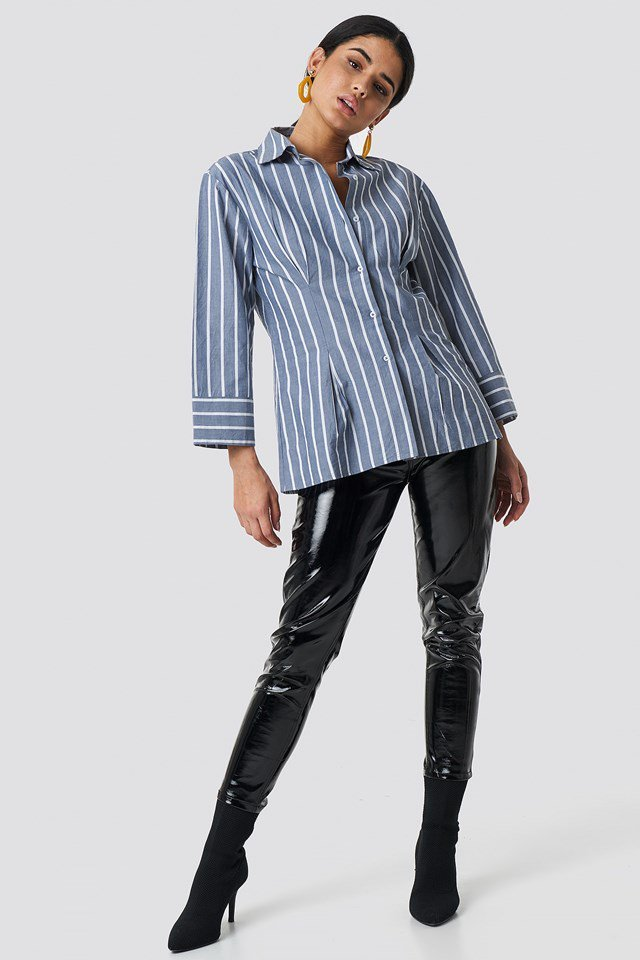 Pleat Detail Shirt Outfit