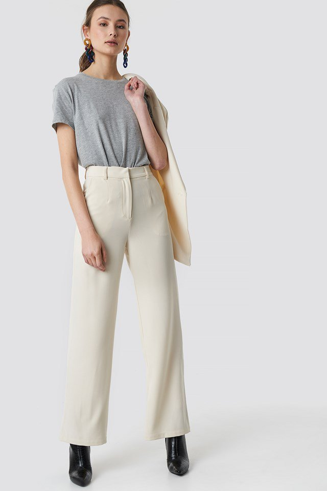 Wide Suit Pants Outfit