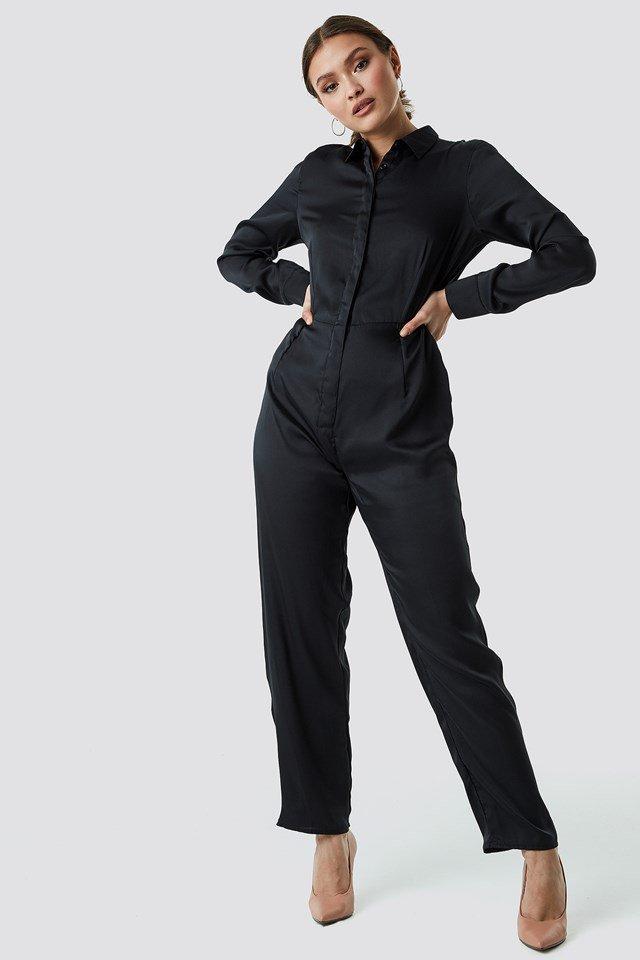 Satin Jumpsuit Outfit