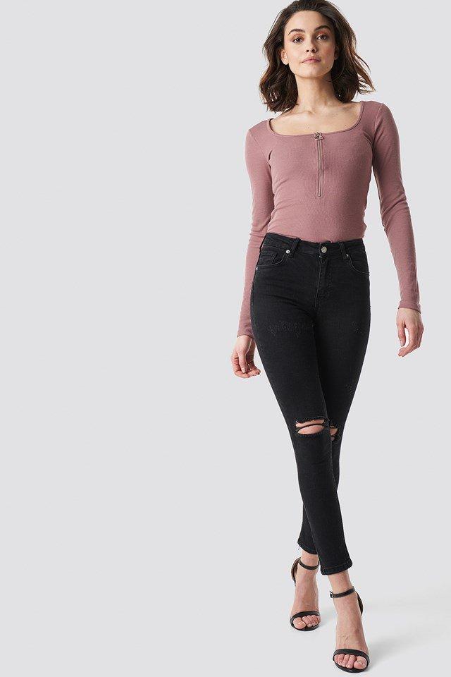 Zipper Top Outfit