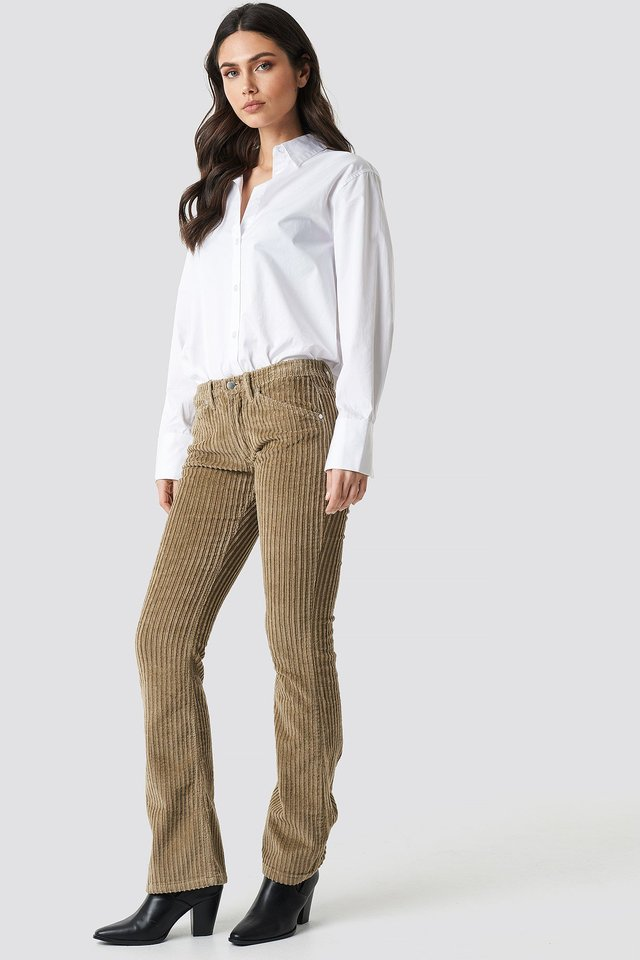 Velvet Flare Pants Outfit