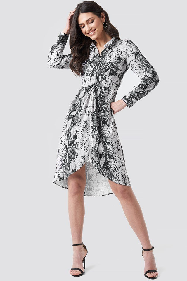 Snake Print Dress Outfit