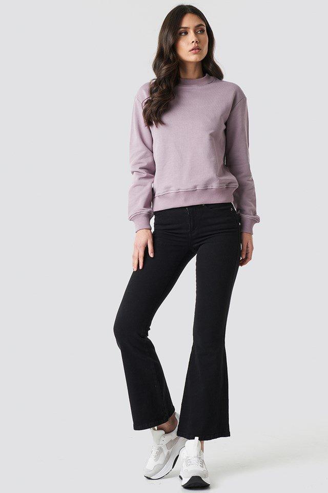 Purple Basic Sweater.