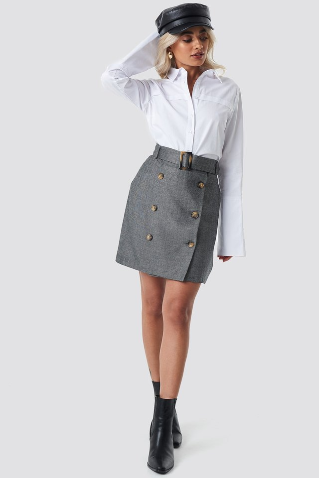Button Skirt Outfit