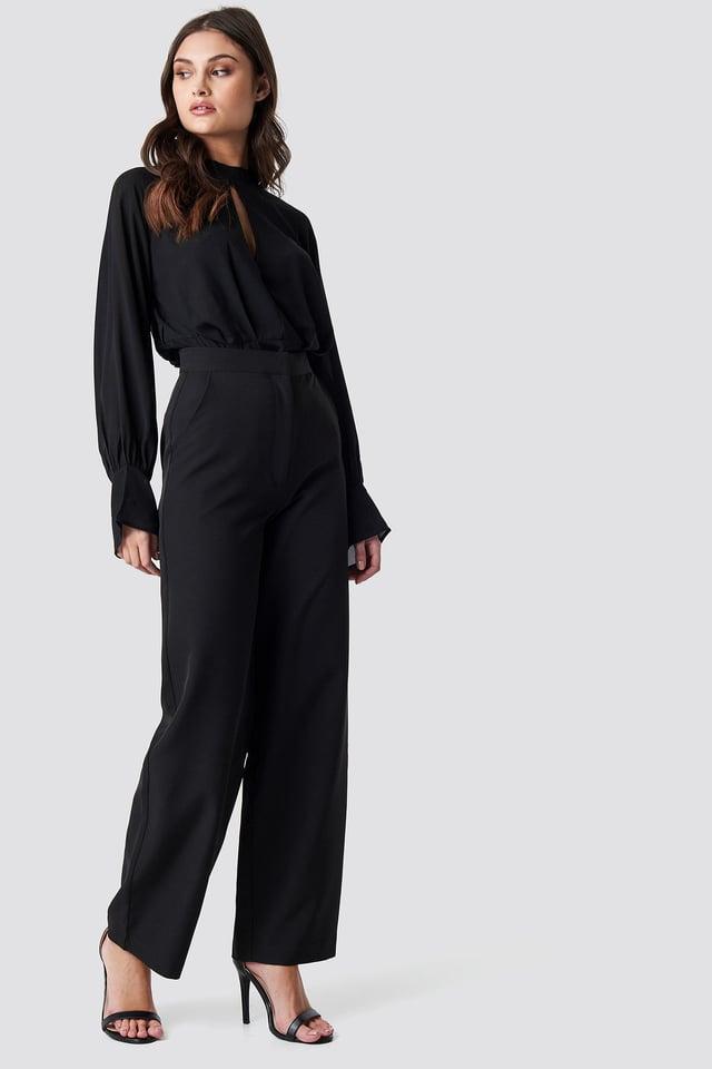 Wide Leg Flowy Pants Black Outfit