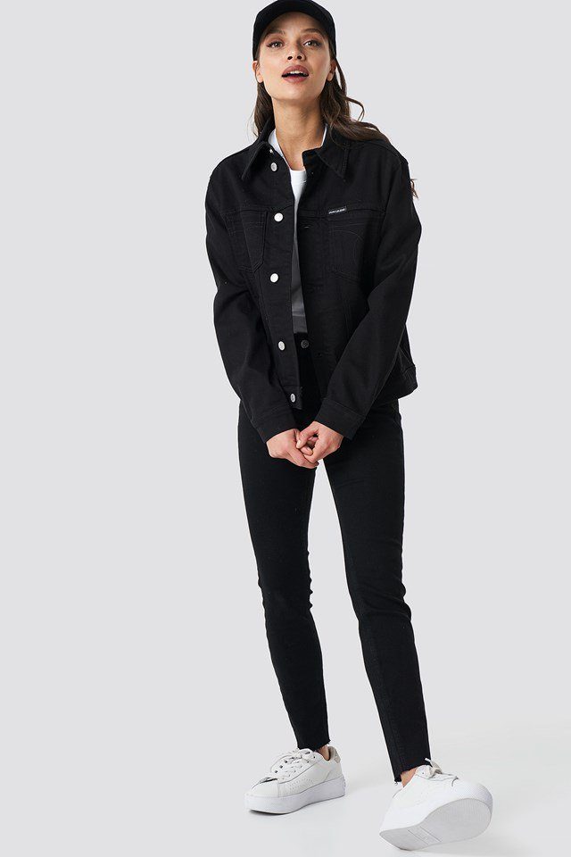 Foundation Trucker Jacket Black Outfit