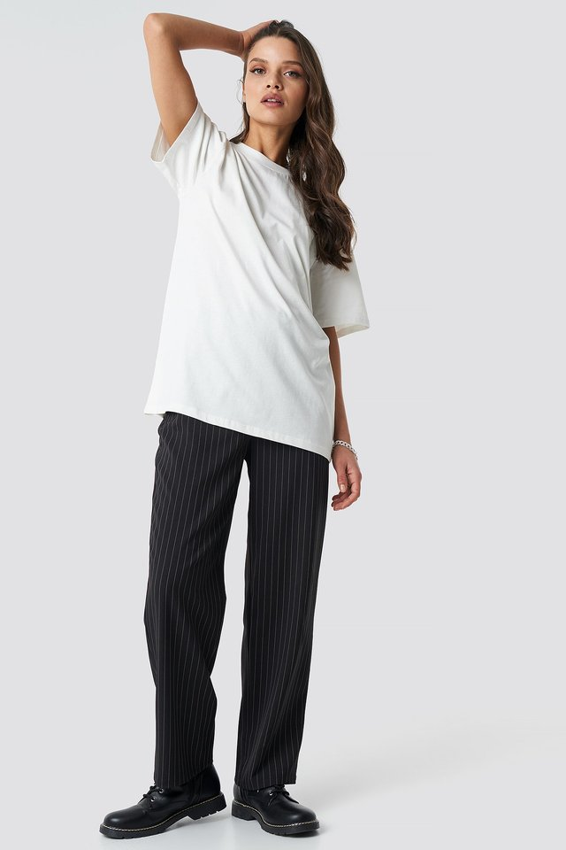 Solid Oversize Tee Outfit
