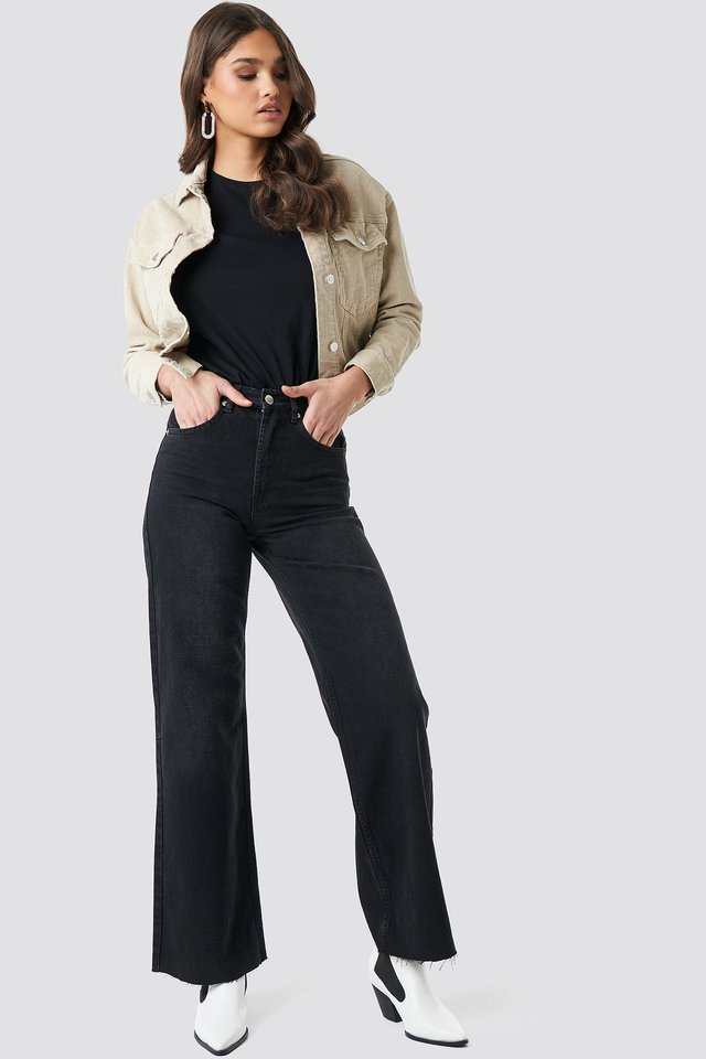 High Rise Wide Leg Jeans Outfit