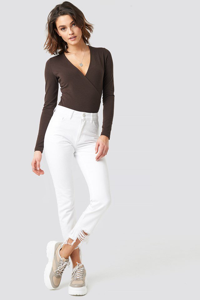 Overlap Black Sleeve Body Outfit