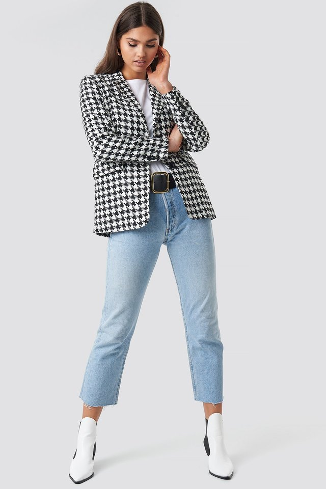 Big Dogtooth Blazer Outfit
