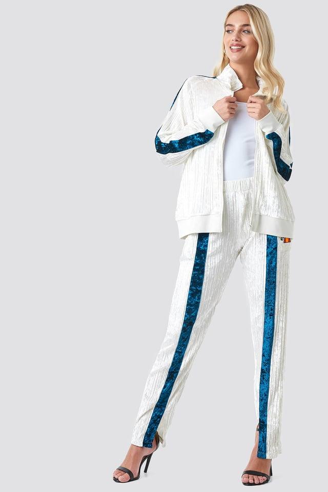 El Veronica Velvet Track Pantsuit Outfit