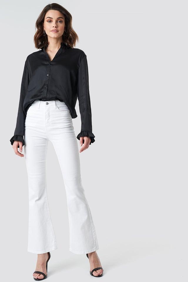 Satin Shirt Outfit