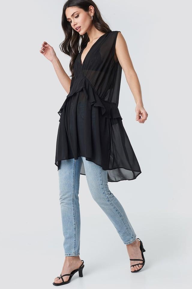 Short Chiffon Dress Outfit