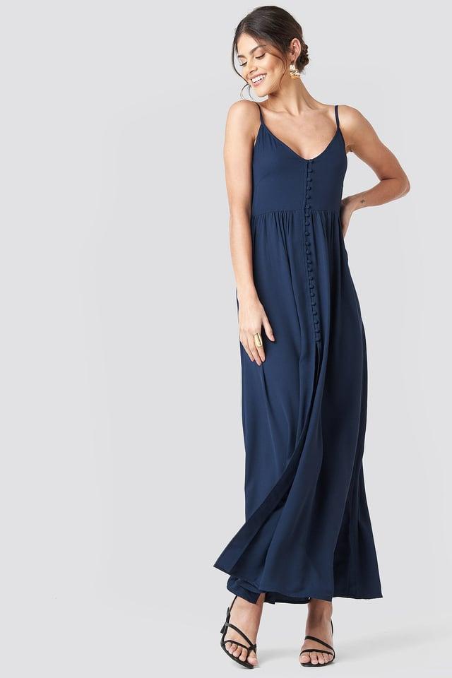 Button Up V-neck Dress Outfit