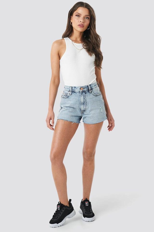 Halter Neckline Rack Singlet Outfit