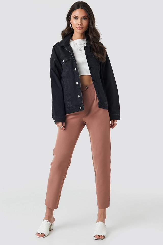 Denim Oversized Jacket Outfit.